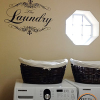 Appliance Vinyl Decal, French Laundry Decal, Washing Machine Decal, Laundry Room Decal, Laundry Wall Decal