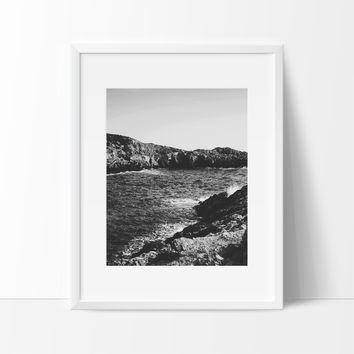From the Rocks to the Ocean Photography Wall Art, Contemporary Decor Ideas