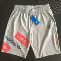 ADIDAS  Fashion Casual Beach Pants Summer Sports  Cotton  Shorts Grey G-A-GHSY-1