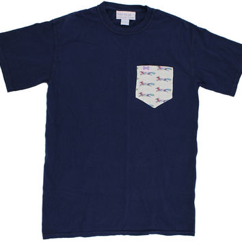 The Limited Edition Longshanks Unisex Tee Shirt in Navy by the Frat Collection