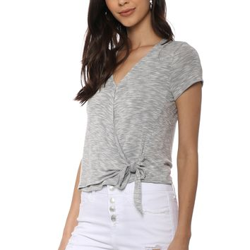 Jac Parker S/S Side Tie Top
