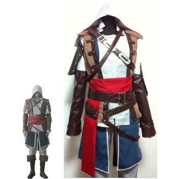 DCCKH6B Boys Child edward kenway Cosplay costume kids Assassins Creed IV4 Black Flag Edward Kenway Assassin Creed Costume custom made