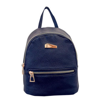 Xiniu Backpacks For Teenage Girls Solid Color PU Leather Adjustable Strap Button Bag Small Backpack Mochilas Feminina #1220