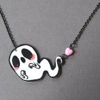 Ghostly Hearts Necklace