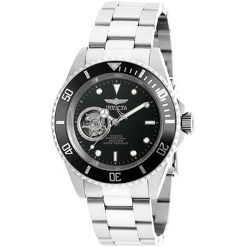 Invicta Men's 20433 Pro Diver Automatic 3 Hand Black Dial Watch