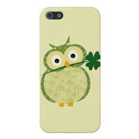 Cute Irish owl with shamrock from Zazzle.com