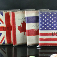 Cute Leather Travelling Abroad Passport Cover Holder Wallet