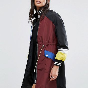 River Island Color Block Sports Jacket at asos.com