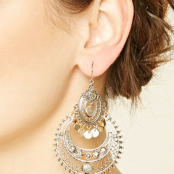 Cutout Chandelier Earrings