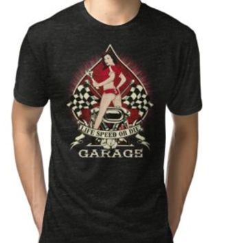 'LIFE SPEED OR DIE - Sexy Caferacer Design' T-Shirt by Super3