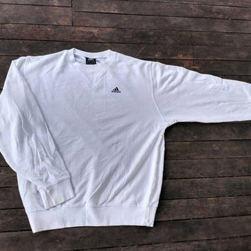 adidas sweatshirt small pony Logo vintage winter wear summer white colour