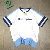Champion Champion knitted mesh splicing short sleeves top