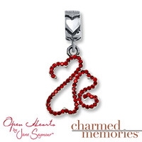 Charmed Memories Open Hearts Family Sterling Silver Charm