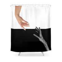 Society6 Good And Evil Shower Curtain