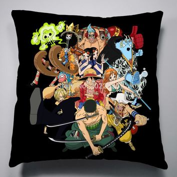 Anime Manga One Piece 40x40cm Pillow Case Cover Seat Bedding Cushion 017