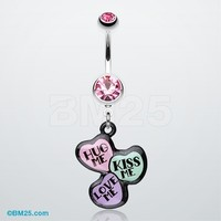 Triple Heart Statement Belly Ring