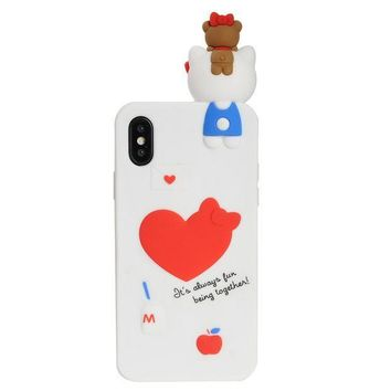 ESBON8C iPhone X Case, Phenix-Color 3D Cute Cartoon Soft Silicone Hello Kitty Gel Back Cover Case for iPhone X(2017) Case Amp Prime (#11)