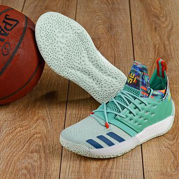 KUYOU A159 Adidas James Harden Vol.2 Boost Training Basketball Shoes Mint Green