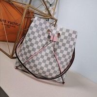 Kuyou Lv Louis Vuitton Gb29714 M44022 Monogram White Pink Handbags Cross Body Bags Neonoe 26*22*27cm