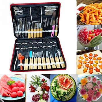 80Pcs/set multifunction watermelon fruit Carving Tools Kit Portable Vegetable Food Carving Chisel Kitchen Cutting Tools Chef Kit