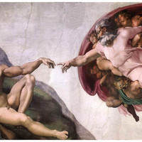 Michelangelo Creation of Adam Art Poster 11x17