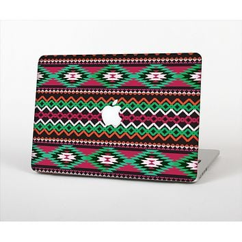 The Vector Green & Pink Aztec Pattern Skin Set for the Apple MacBook Air 11""