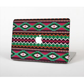 The Vector Green & Pink Aztec Pattern Skin Set for the Apple MacBook Air 13""