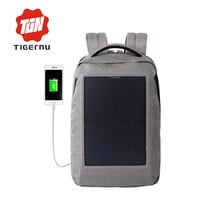 New Solar Powered & Anti-Theft Backpack with Solar Panel Bottle Bag Men and Women Laptop Bag