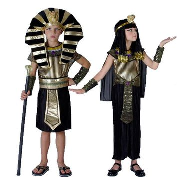 Halloween Party Cleopatra Royal Dress Boys Kids Egypt Princess Costumes Cosplay Egyptian pharaoh Children's Day