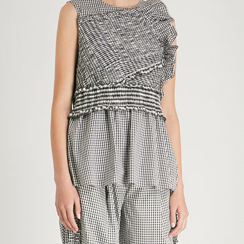 3.1 PHILLIP LIM Gingham sleeveless shell top