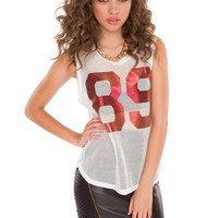 Shailene Jersey Top - White
