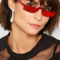 Andy Wolf - Ojala square-frame metal mirrored sunglasses