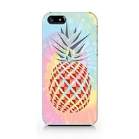 Tie Dye Pineapple iphone 5 Case, iphone 5S Case Plastic Hard Case Unique Design-Quindyshop (NAM36)