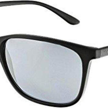 Giorgio Armani Men's Mirrored AR8084-50426G-57 Black Rectangle Sunglasses