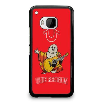 RED BIG BUDDHA TRUE RELIGION  HTC One M9 Case Cover