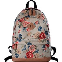 DGY Fashion Canvas Backpacks Cute Printed Backpack for Teenage Girls G00133