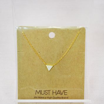 jeweled triangle necklace