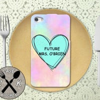 Future Mrs. O'Brien Pastel Tumblr Candy Heart Teen Wolf Custom Rubber Tough Phone Case For The iPhone 4 and 4s and iPhone 5 and 5s and 5c