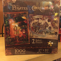disney parks pirates of the caribbean 2 sided puzzle 1000 pcs new with box