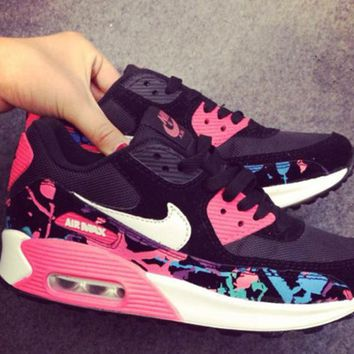 """Nike Air Max 90"" Women Sport Casual Multicolor Air Cushion Sneakers Running Shoes"