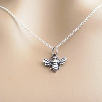 Sterling silver, Bumblebee, Necklace, Lovers, Best friends, Mom, Sister, Gift, Accessory, Jewelry