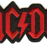 AC/DC Iron-On Patch Red Letters Logo