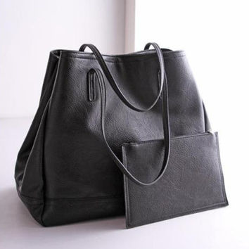 """Zara"" Fashion Female PU Retro Handbag Set Two-Piece"
