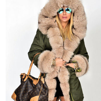 Shop Fur Lined Parka on Wanelo