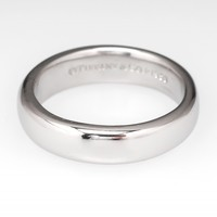 Tiffany & Co. Wedding Band Ring 4.1MM Wide Platinum