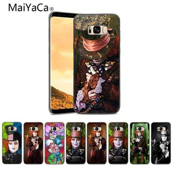 MaiYaCa Alice In Wonderland Johnny Depp On Sale Luxury Cool phone case cover For Samsung Galaxy S4 S5 S6 S7 S8 Mobile cover