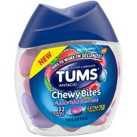 TUMS Chewy Bites Extra Strength Antacid Relief, Assorted Berries Flavor, 32 Count - Walmart.com