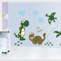 Dinosaur Tree Kids Nursery Home Decor Wall Sticker Decal SM7008