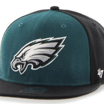 Philadelphia Eagles Super Move Two Tone Captain Strapback Hat By '47 Brand