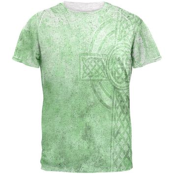 St. Patricks Day Dirty Irish Celtic Cross Mens T Shirt